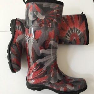 Kamik Floral Rain Boots Size 7